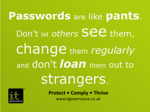 Passwords are like pants