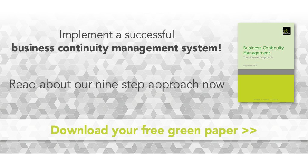 Business continuity management system banner