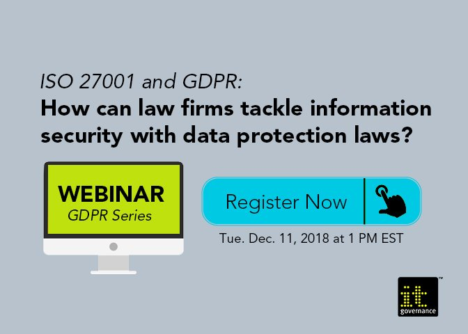 Webinar: How can law firms tackle information security with data protection laws?